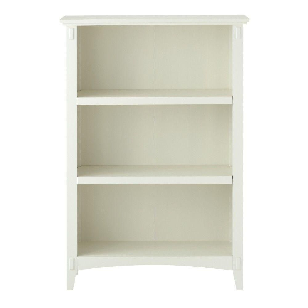 Home Decorators Collection Artisan White 3 Shelf Open Bookcase