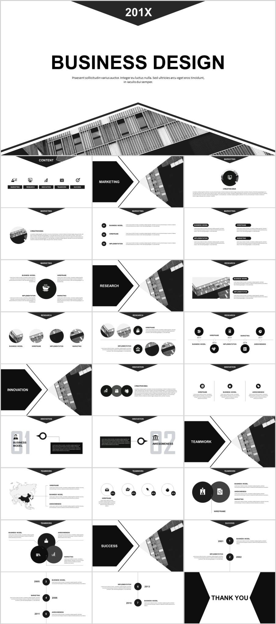 28 gray business design PowerPoint templatesThe highest quality PowerPoint Templates and Keynote Templates download