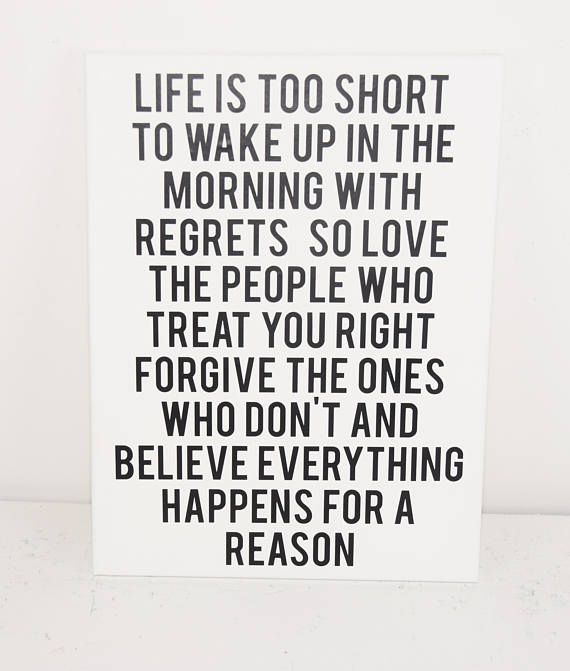 Life Is Short Motivational Sign Inspirational Sign Canvas Wall