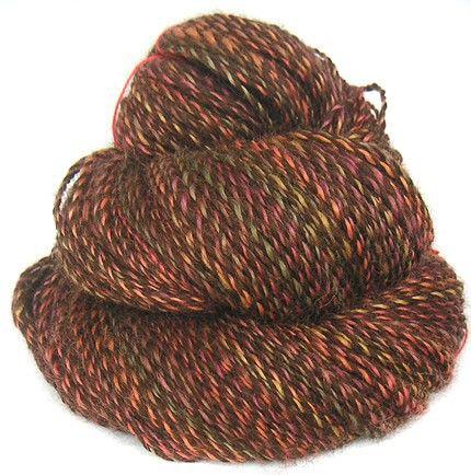 Handspun Yarn handdyed Wensleydale wool