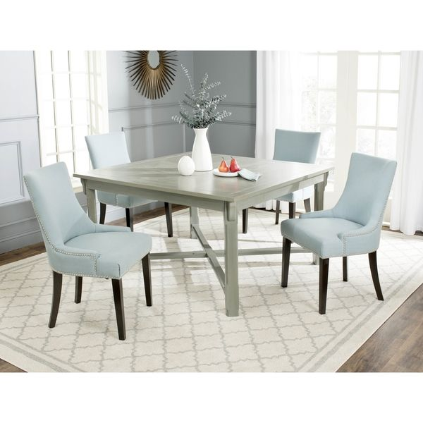 Safavieh Bleeker Ash Grey Dining Table  Overstock Shopping Magnificent Grey Dining Room Sets Design Decoration