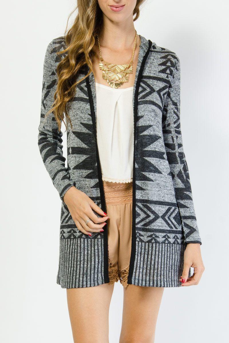 Tribal Print Hooded Cardigan $18.99 | Incredible Thread Likes ...