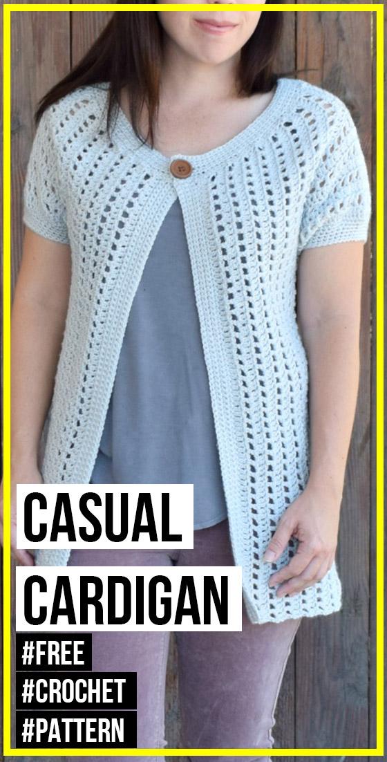 crochet Casual Cardigan free pattern - easy crochet ...