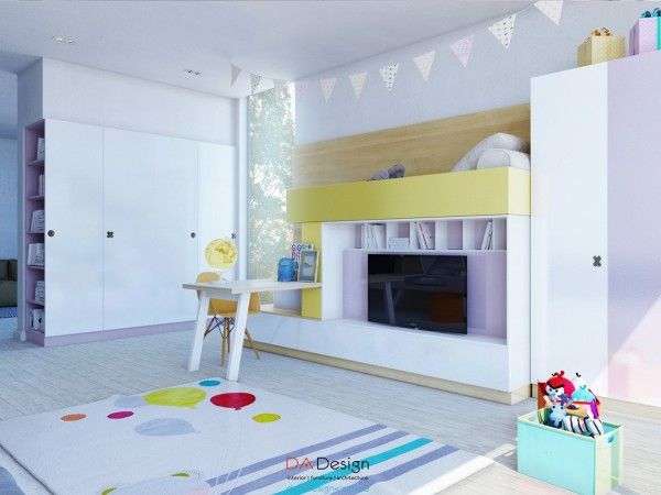 Colorful kids room designs with plenty of storage space home decor