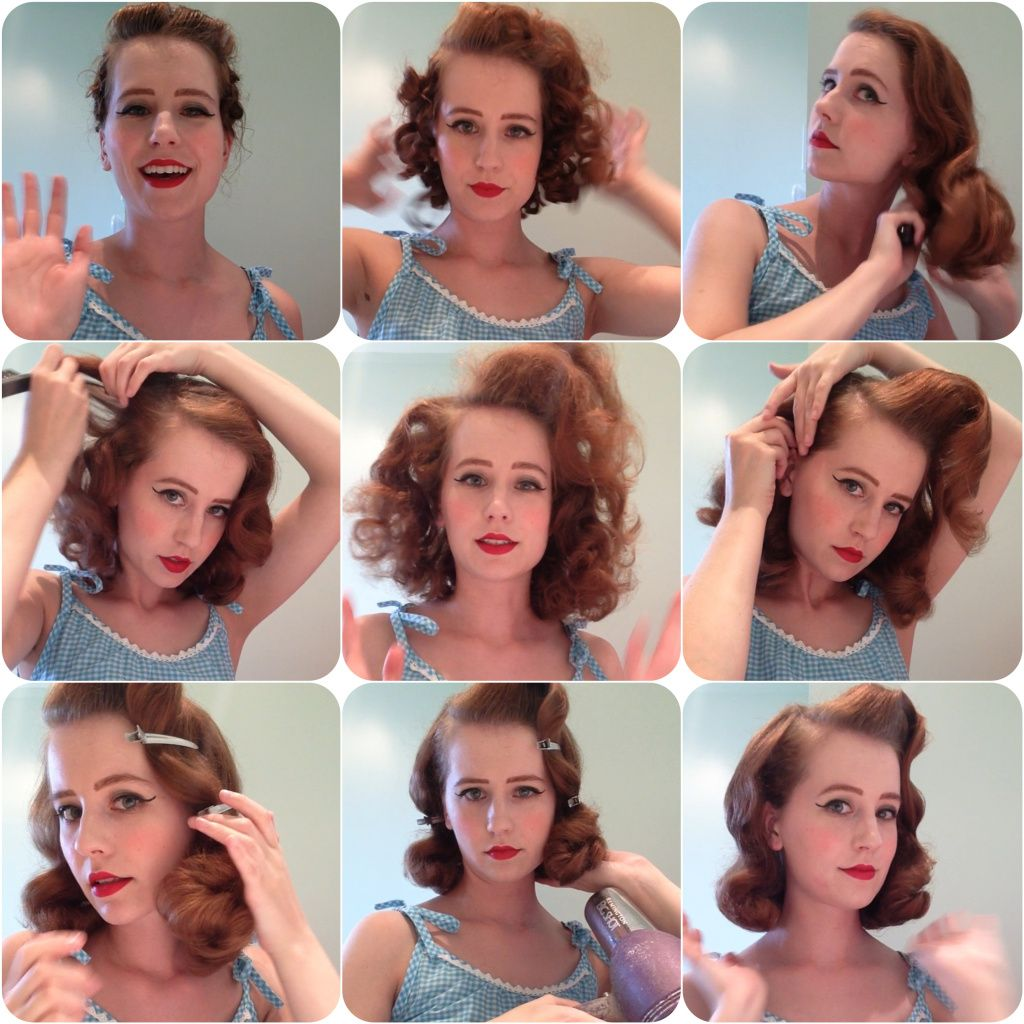 Tutorial Pin Curls Part 2 The Brush Out Miss Hero Holliday In 2020 Vintage Hairstyles Tutorial Vintage Hairstyles Hair Tutorial