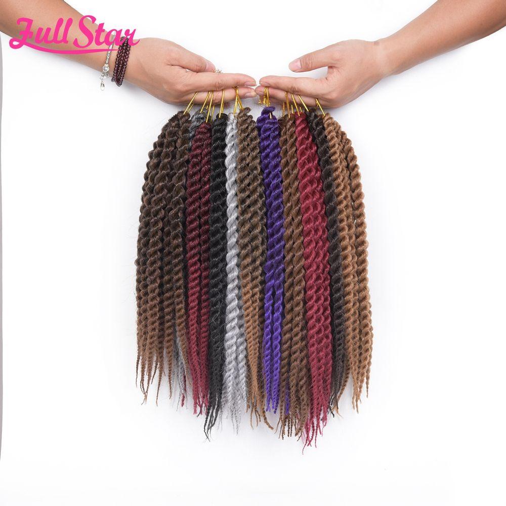 Full star pack havana twist crochet braids hair gpacksynthetic