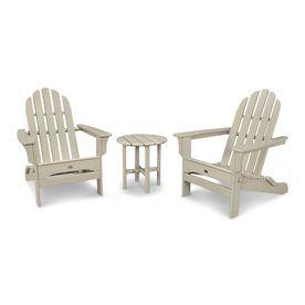 trex outdoor furniture cape cod 3 piece plastic patio conversation