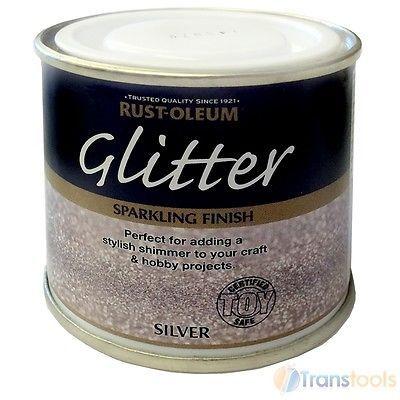Rust Oleum Glitter Brush Paint Silver Sparkling Finish 125ml Toy Safe Hobbycraft Glitter Paint For Walls Glitter Wall Rust Oleum Glitter