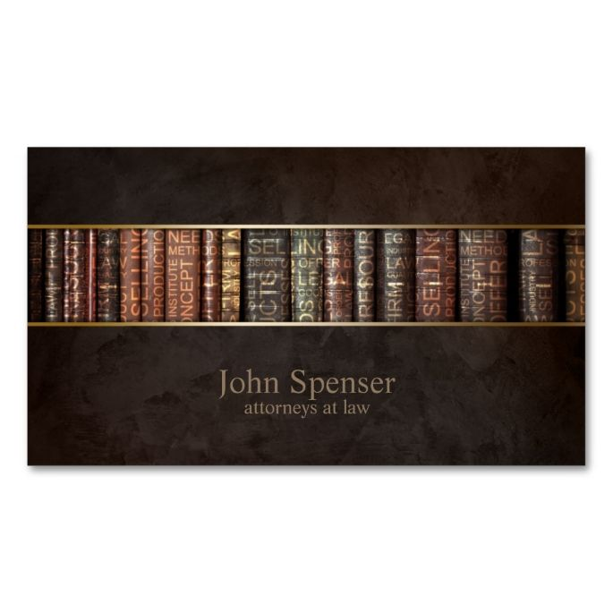 Attorneys At Law Bookshelf Business Card