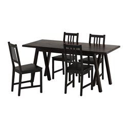 Ryggestadgrebbestad  Stefan Table And 4 Chairs Black Brown Classy Black And Brown Dining Room Sets Inspiration Design
