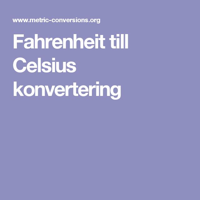 Fahrenheit till Celsius konvertering