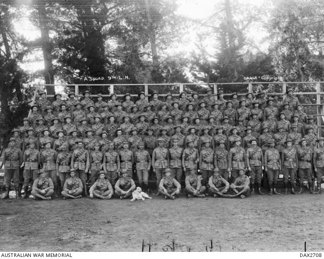 Group portrait of members of the Machine Gun Section, 1st