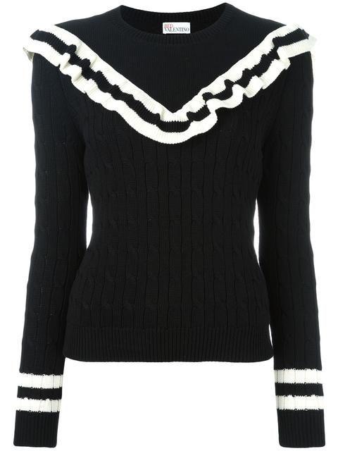 a8ba89a71 RED VALENTINO cable knit frill jumper.  redvalentino  cloth  스웨터 ...