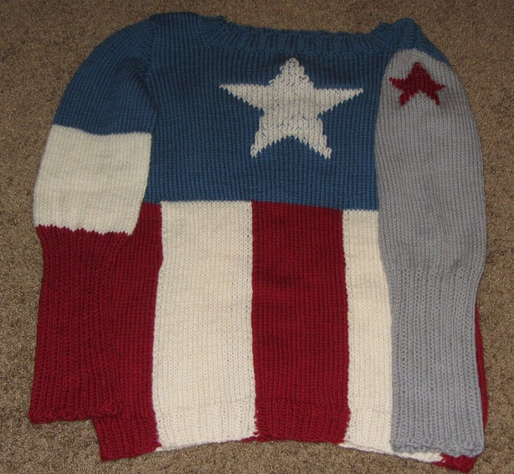 Captain America-Winter Soldier sweater by prettymaryk | Knitting and ...