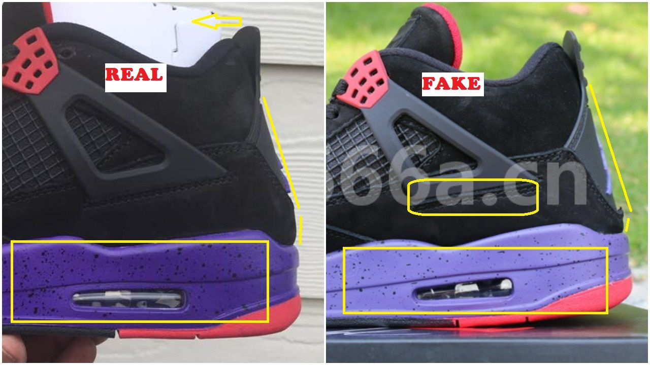 348f58930679ab Fake Air Jordan 4 Raptor Spotted-Quick Ways To Identify It – Housakicks