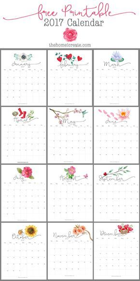 Free  Printable Calendar  Printable Calendars And Journal