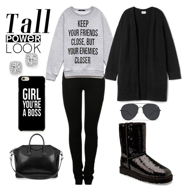 """""""Favorite Look Black Sparkles Everyday"""" by destinycarter1207 on Polyvore featuring Bloomingdale's, UGG Australia, MM6 Maison Margiela, Forever 21, Givenchy and powerlook"""