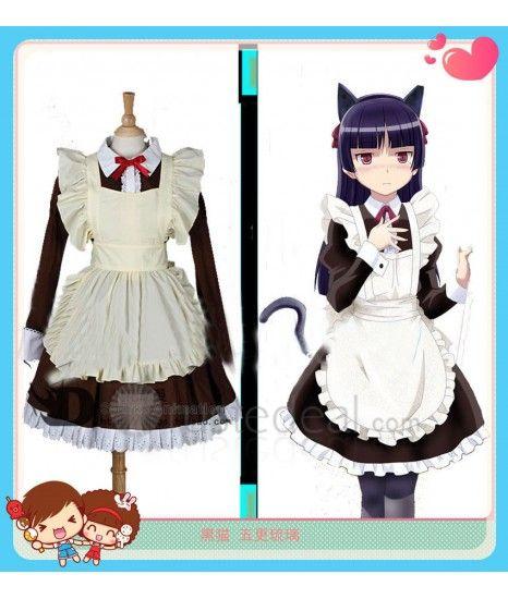 Oreimo Gokou Ruri Kuroneko Maid Cosplay Costume