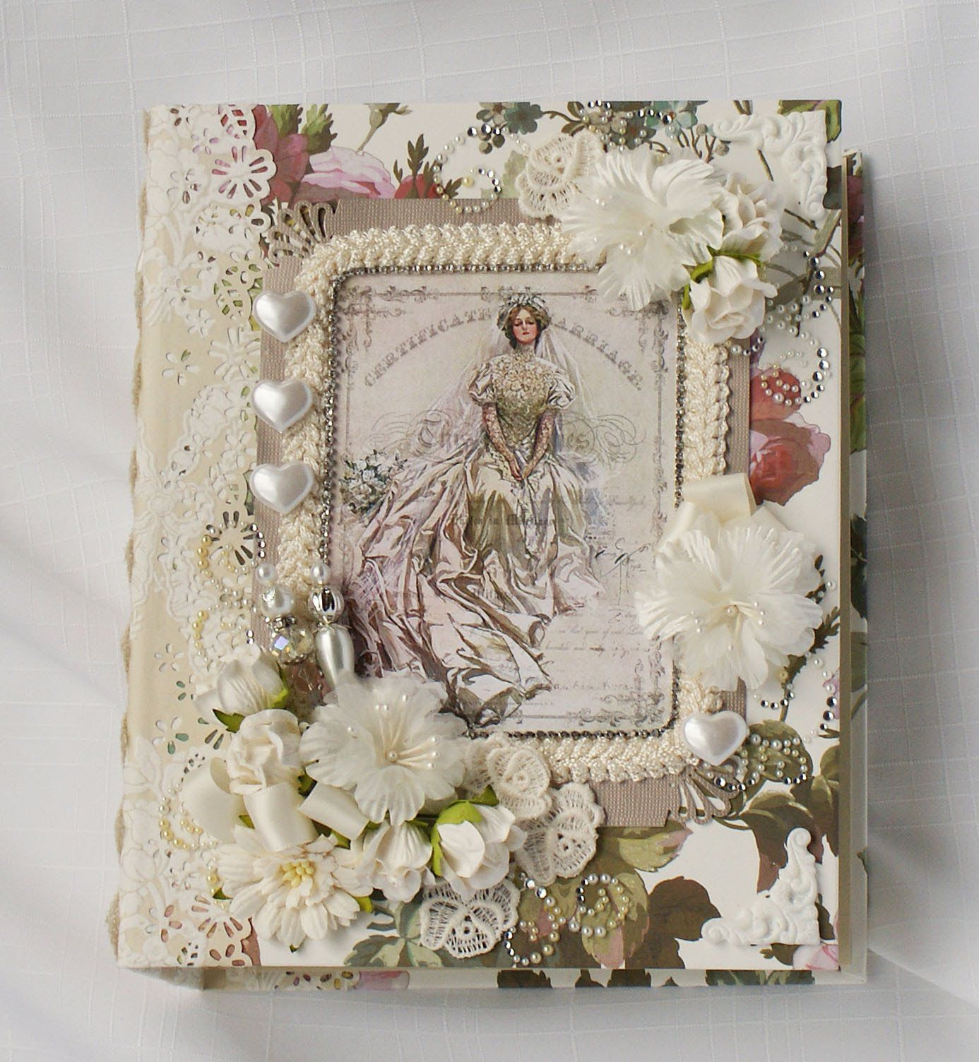 Diy Wedding Album Ideas: Wedding Handmade Chipboard Scrapbook Photo Album.