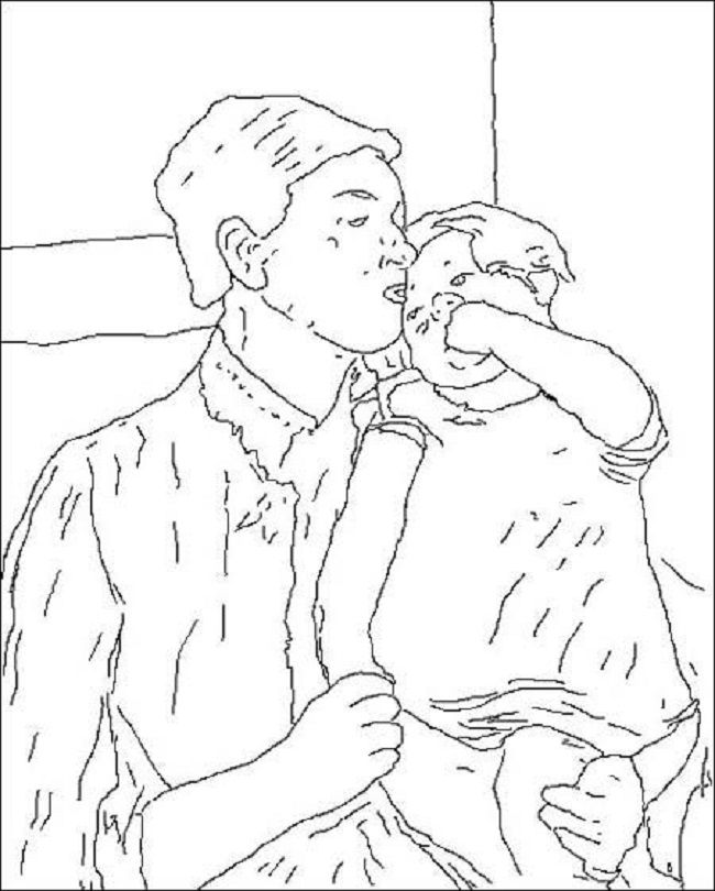 Mary Cassatt Printable Coloring Pages