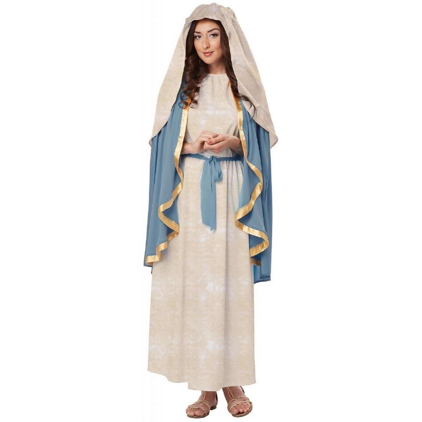 Biblical Virgin Mary Costume Women Adult Religious Christmas Halloween Bible
