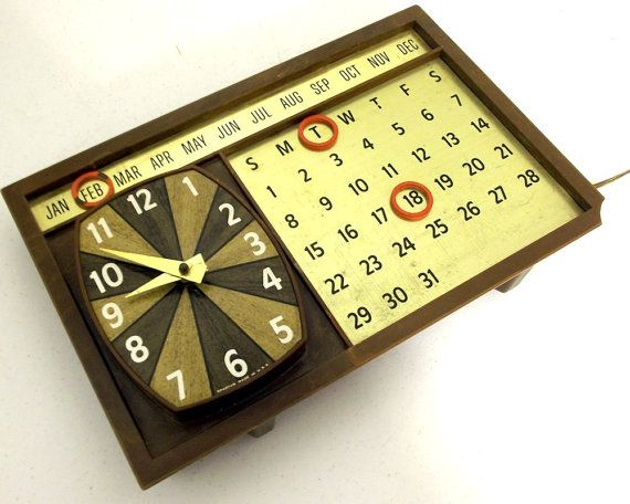 Vintage Spartus Clock  Magnetic Calender  by honeyblossomstudio, $9.99