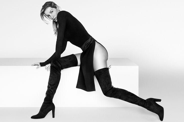 Gisele Bündchen by Mario Testino for Stuart Weitzman Fall 2015 campaign @stuartweitzman