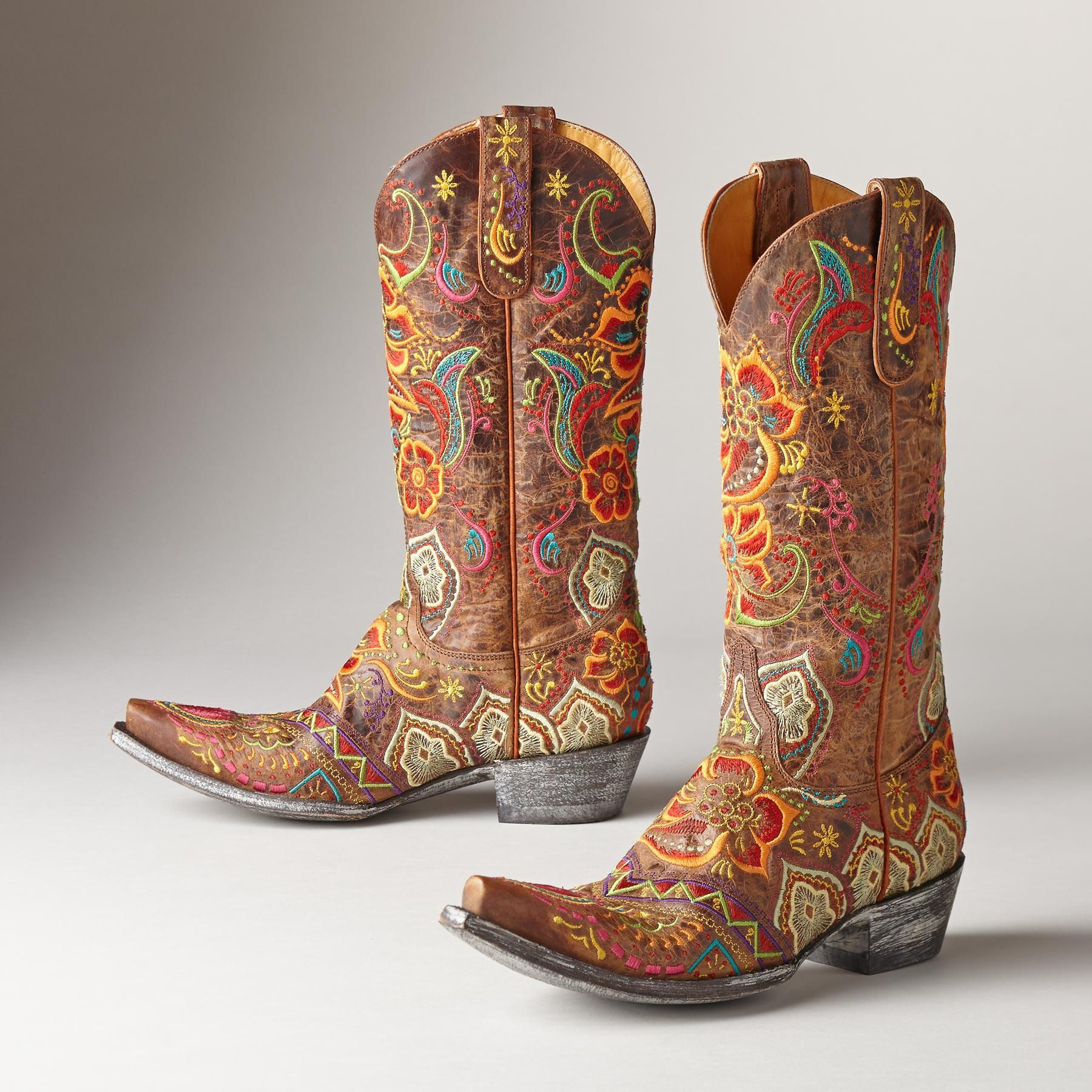 L'Amour Girls 662 Embroidered Cowboy Boots