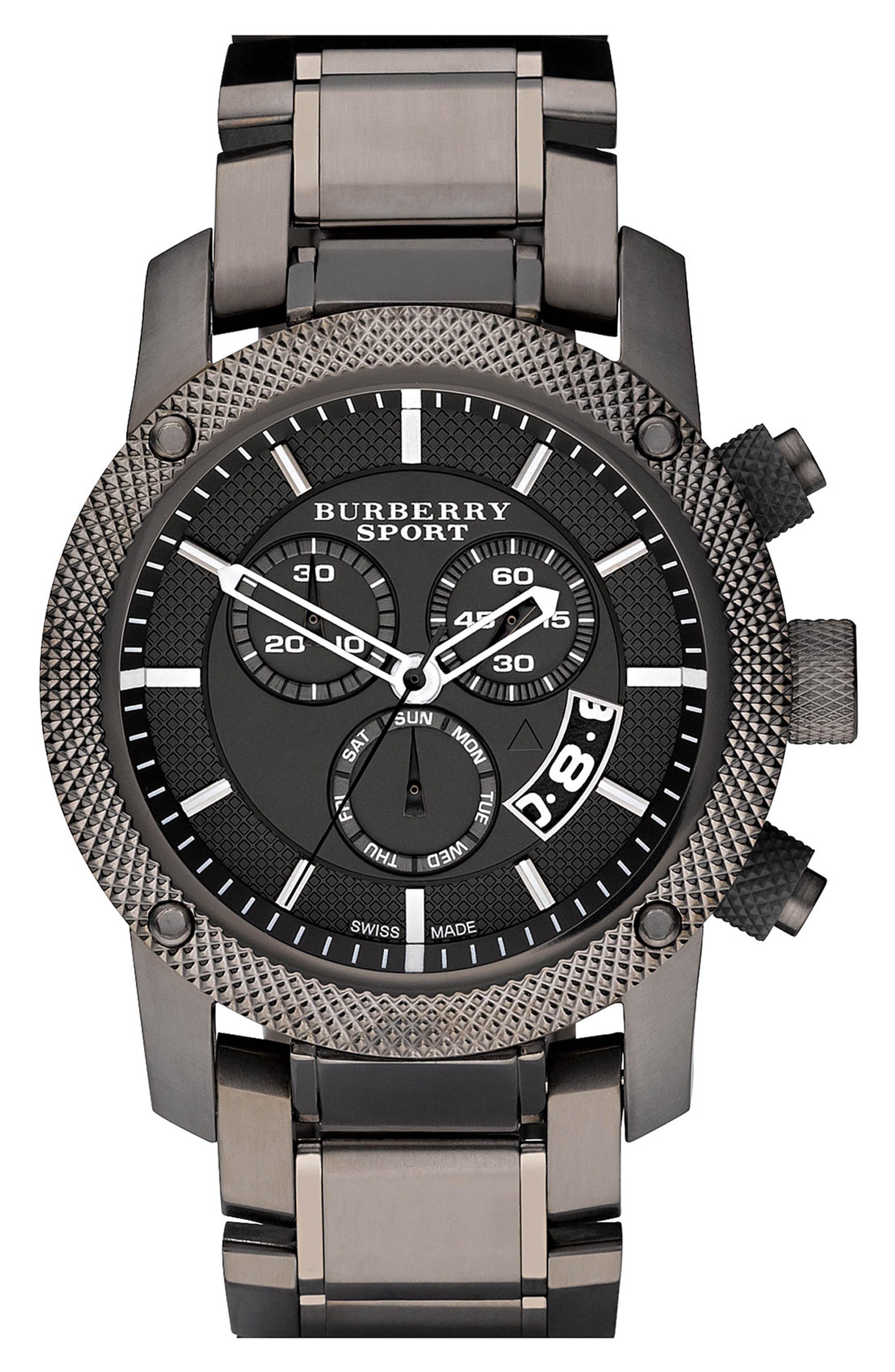5ac9895b725 Main Image - Burberry Chronograph Bracelet Watch