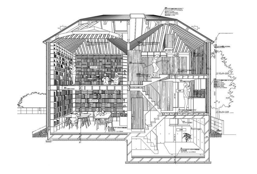 Biblioth que ikushima kokubunji tokyo 2008 cr dit for Architecture japonaise