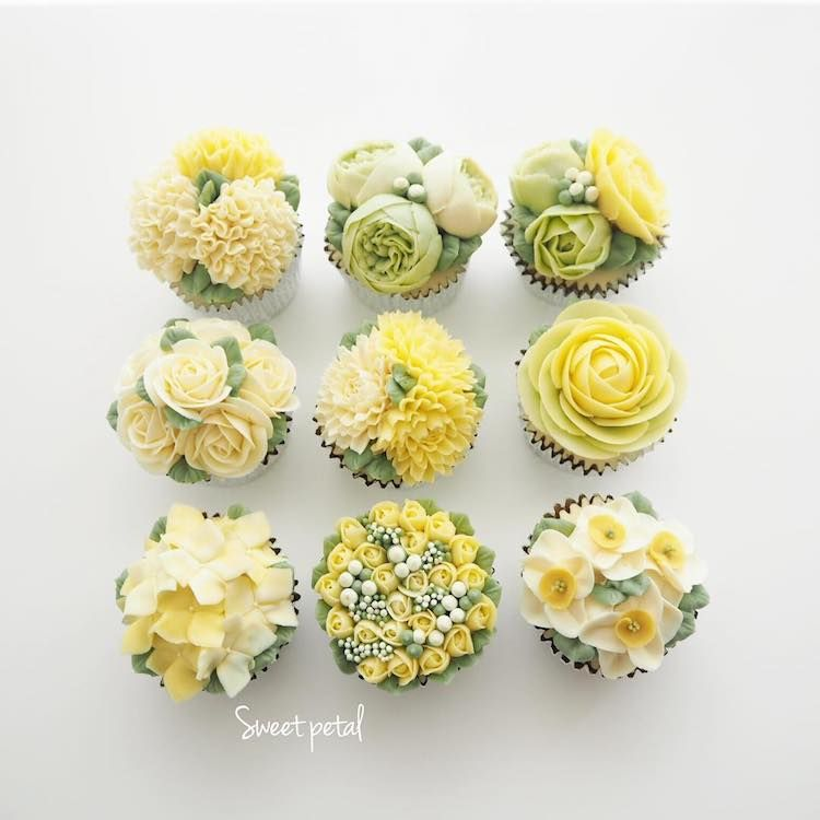 30 blooming flower cakes for an artfully delicious way to welcome buttercream pale yellow flower cake mightylinksfo