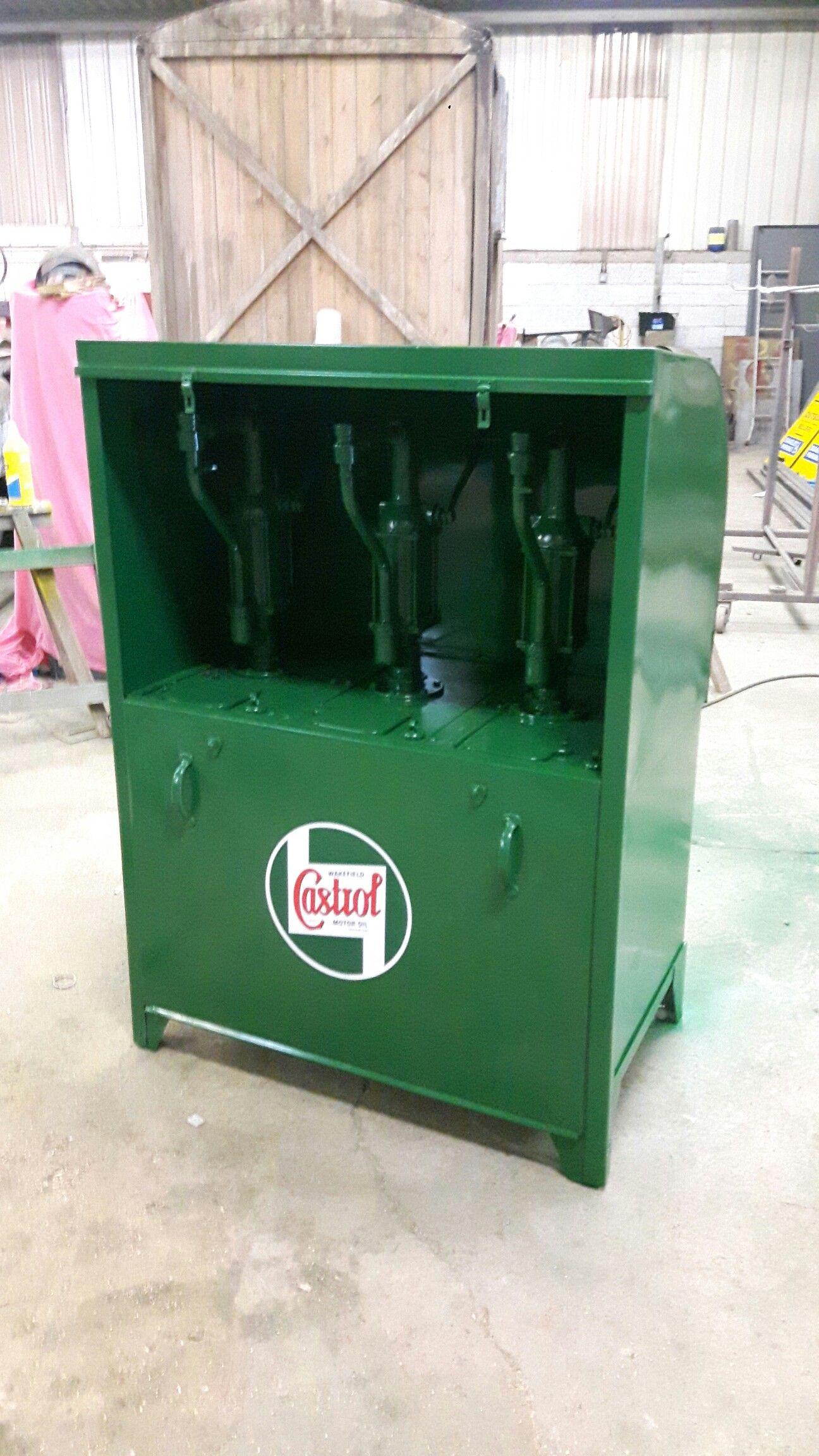 Castrol Oil Dispenser Restored For Matts Automobilia Oil Dispenser Castrol Oil Retro Art Deco