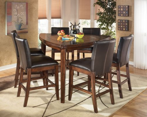 Ashley larchmont triangle pub table set breakfast table pinterest pub tables triangles - Triangle kitchen table set ...