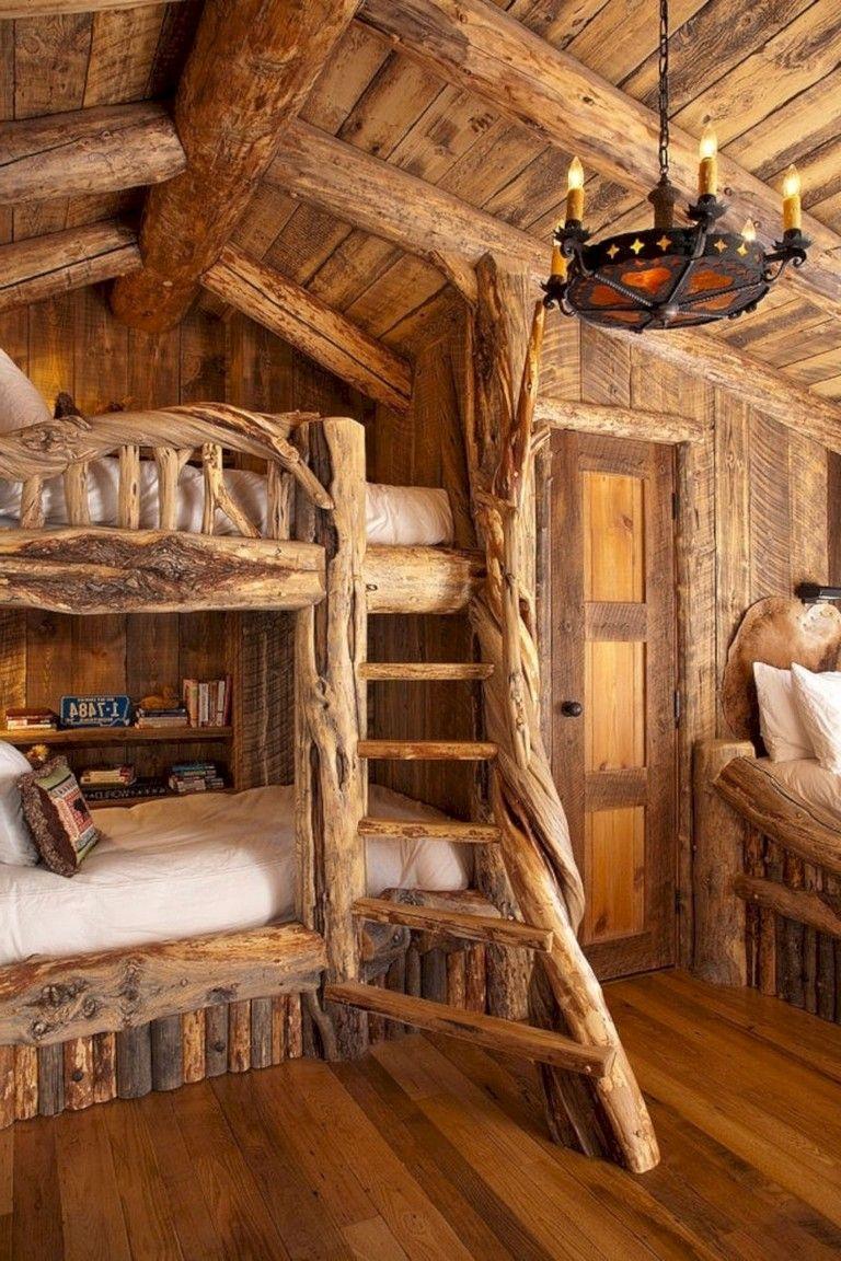 15+ Innovative Log Cabin Themed Bedroom for Kids Cabin