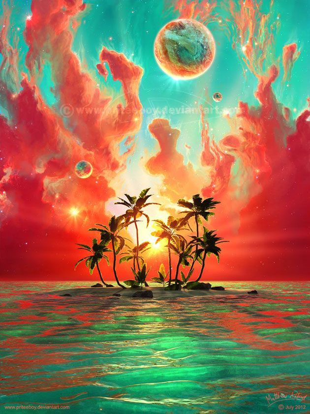 30 Beautiful Painting Of Sun All Times 26