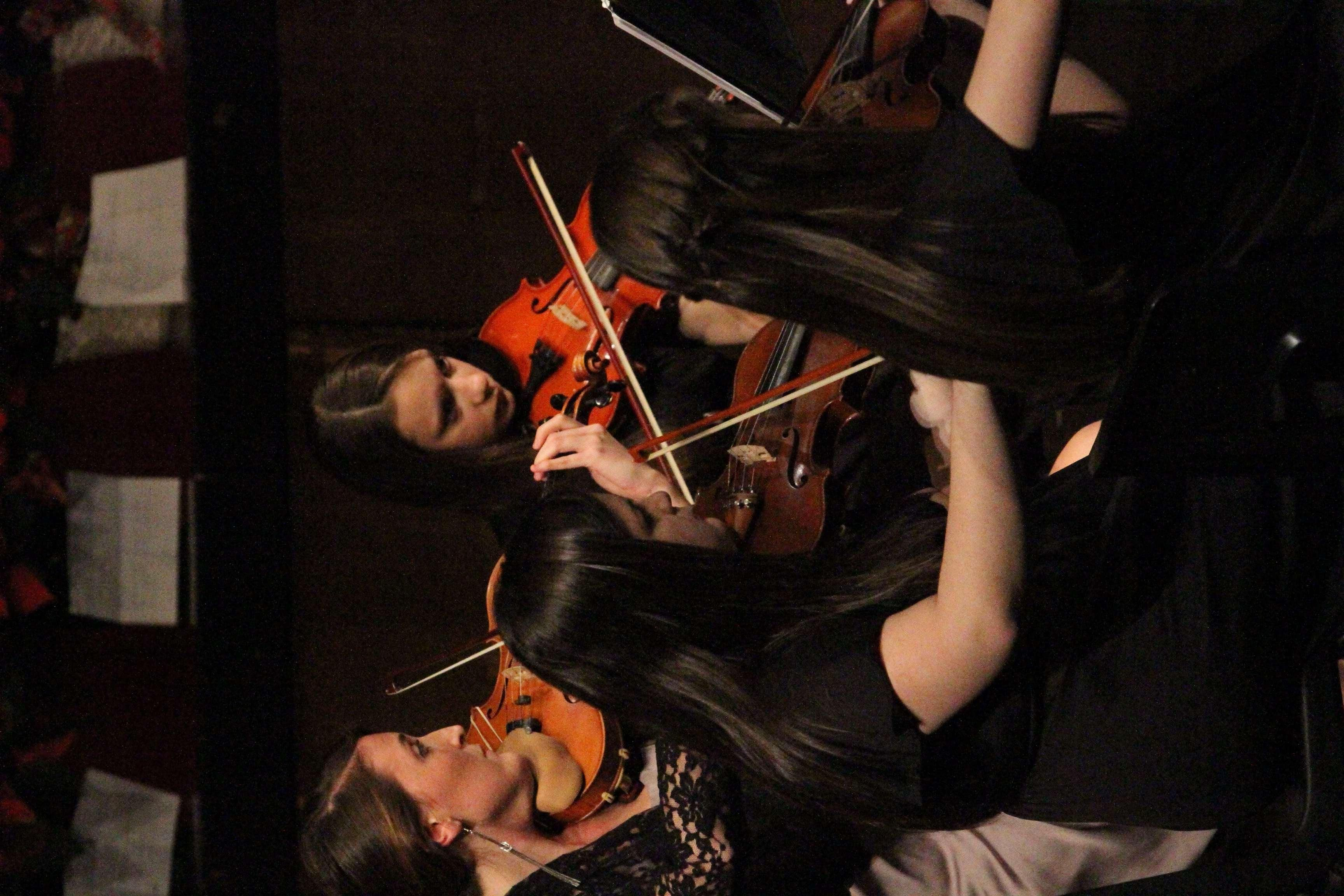 The String Ensemble plays during the Instrumental Concert on December 4.