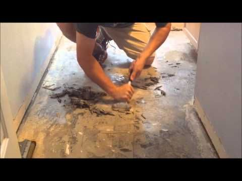 The Easiest Way To Remove Linoleum From Concrete Youtube Tile Removal Removing Vinyl Flooring Linoleum Flooring