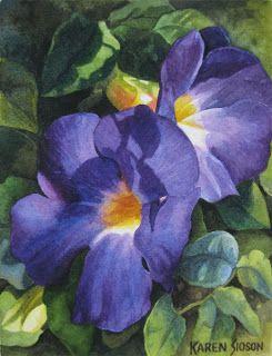 Karen Sioson Watercolors: recently sold paintings