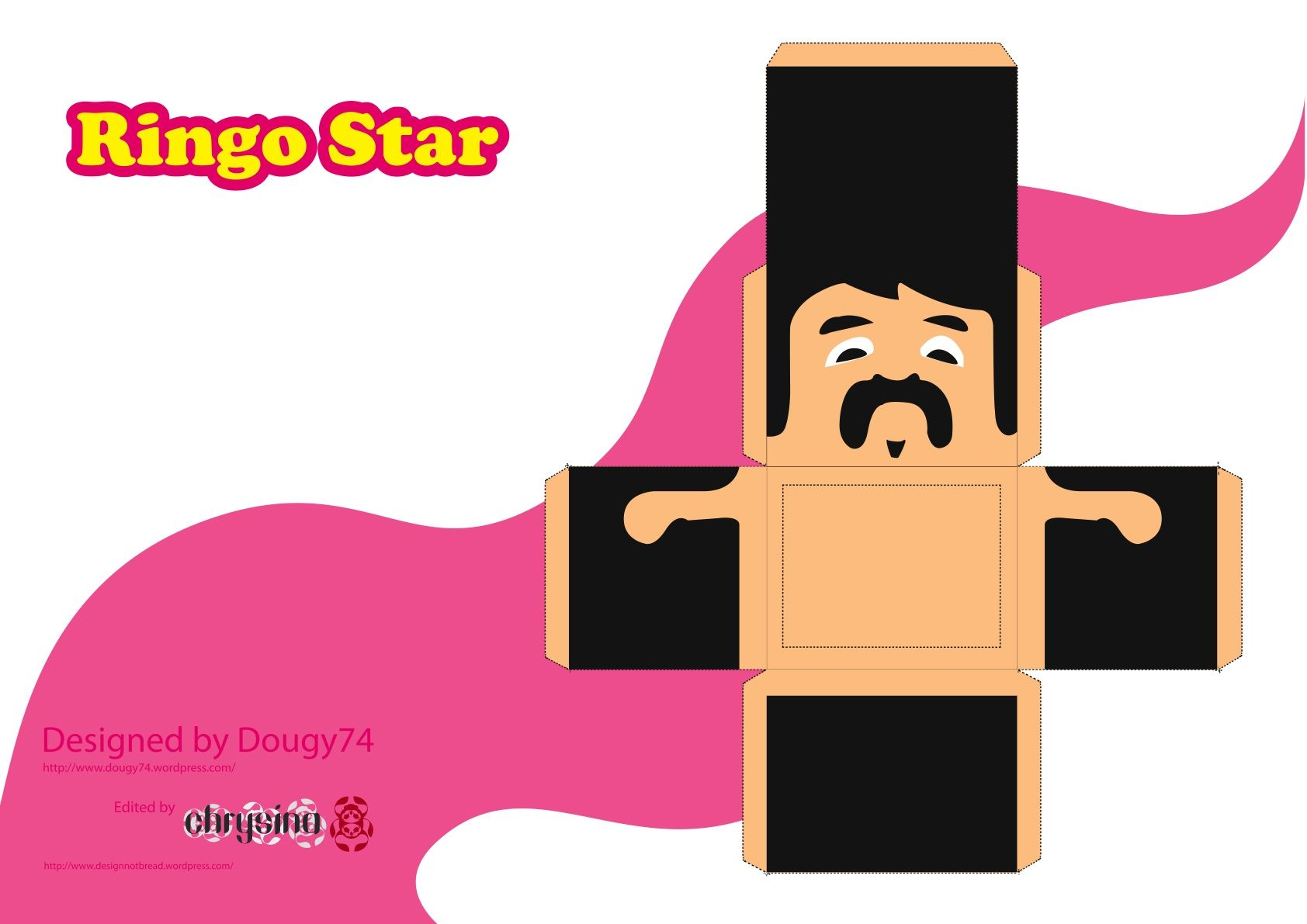 Image Detail For Beatles Paper Toy Template Head 1 Of 4
