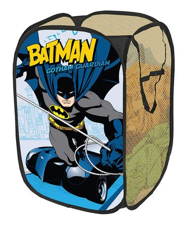 Love this Warner Brothers Batman Collapsible Pop-Up Hamper on #zulily! #zulilyfinds