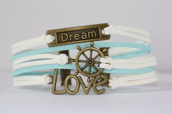 WORK Dream Bracelet Ship's Wheel Bracelet Love by ilovecheesygrits