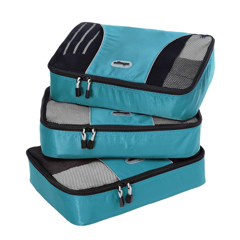 eBags Small Packing Cubes 3pc Set Aquamarine