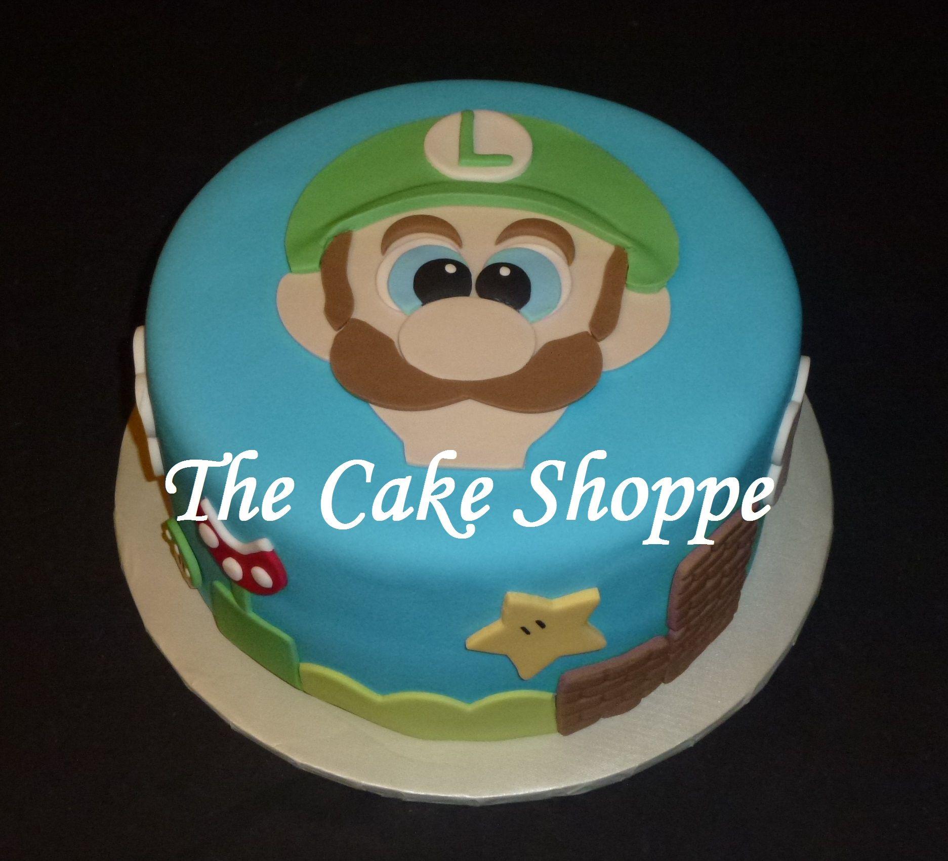 Luigi Themed Cake