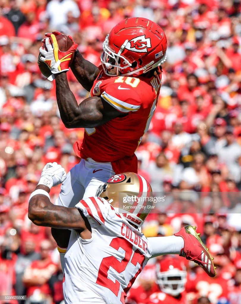 Kansas City Chiefs Wide Receiver Tyreek Hill Catches A
