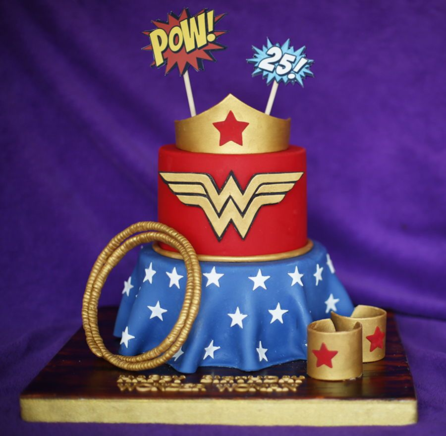 Wonder Woman Cake On Cake Central Wonder Woman Birthday Party