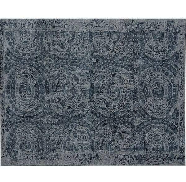 Bosworth Printed Wool Rug 8x10 Blue At Pottery Barn