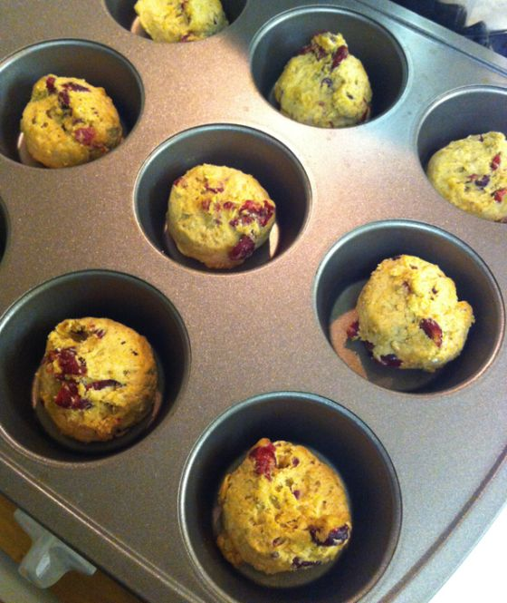bake cookie dough in a muffin tin for perfectly round, thick and chewy cookies