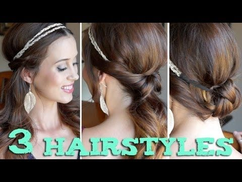 Hairstyles With Headbands 3 Easy Back To School Hairstyles Using A Headbandim Not In