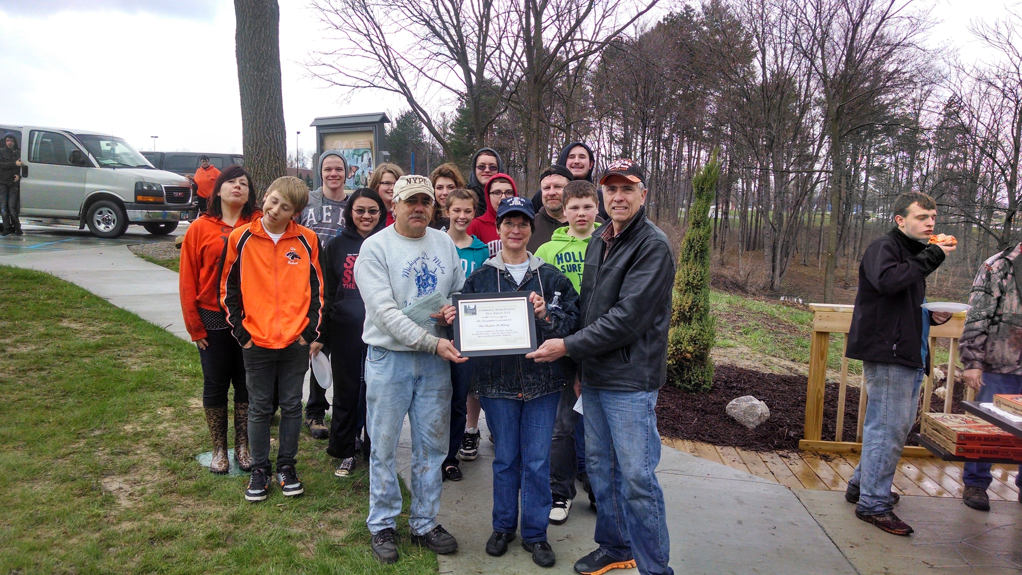 Clio mi clean up day may 3 2014 sponsored by the
