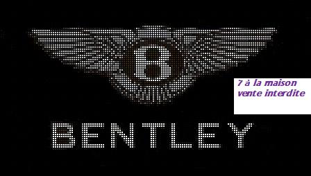 grille gratuite : logo Bentley   7 a la maison, Point de croix et Croix